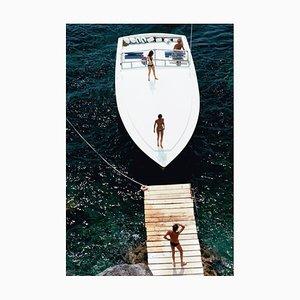 Speedboat Landing Druck von Slim Aarons