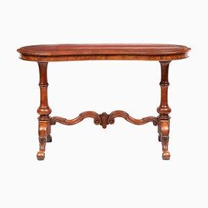 Scrivania a fagiolo in legno di noce, fine XIX secolo