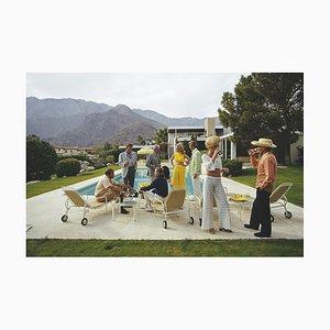 Stampa Desert House Party di Slim Aarons per Galerie Prints