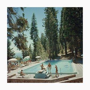 Pool at Lake Tahoe di Slim Aarons