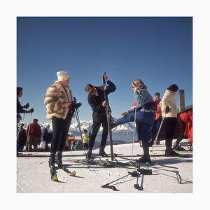 Verbier Skiers Print by Slim Aarons