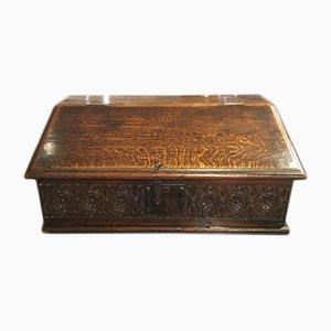 Antike Kiste aus Eichenholz, 1680er