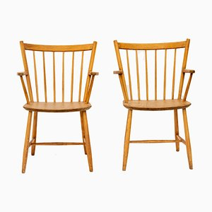 Oak J42 Armchairs by Børge Mogensen for FDB, 1920s, Set of 2