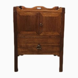 Antique George III Mahogany Tray Top Nightstand