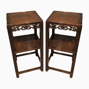 Sedie in legno massiccio, Cina, fine XIX secolo, set di 2
