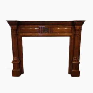 Antique Victorian Walnut Fire Surround
