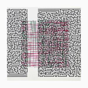 Dänische Pattern Break (delusion) Siebdruck Lithografie von Claus Handgaard Jørgensen, 2006