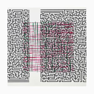 Danish Pattern Break (delusion) Screen Print Lithograph by Claus Handgaard Jørgensen, 2006