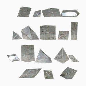 Vintage Perspex Crystal Models, Set of 17