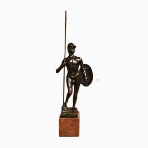Bronze Roman Warrior Sculpture by Ernst Beck, 1910s