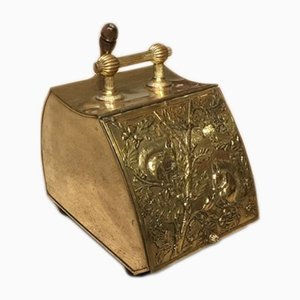Arts & Crafts Brass Coal Scuttle, 1890s