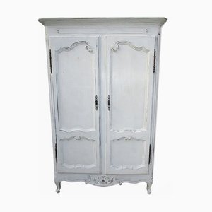 Antique French White Wardrobe