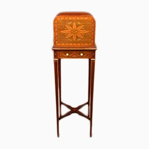 Sheraton Revival Marquetry Inlaid Newspaper Rack, 1900s