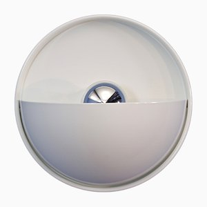 Dutch White Eclipse Wall Lamp from Dijkstra Lampen, 1960s