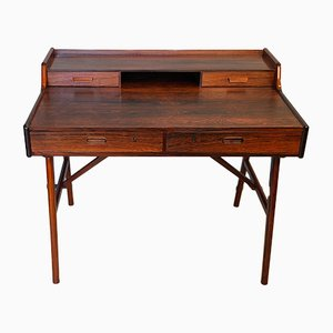Danish Rosewood Desk by Arne Wahl Iversen for Vinde Møbelfabrik, 1950s