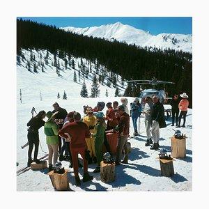 Snowmass Picnic Druck von Slim Aarons