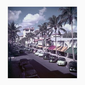 Palm Beach Street Print by Slim Aarons