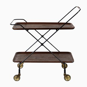 Mid-Century Swedish Brass & Steel Trolley by Jie Gantofta, 1960s