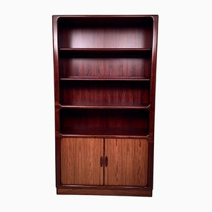 Danish Rosewood & Teak Bookcase with Tambour Door from Dyrlund, 1960s