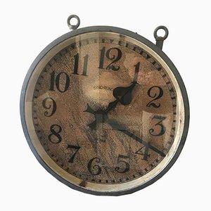 Doppelseitige industrielle Mid-Century Uhr von Synchronome, 1940er