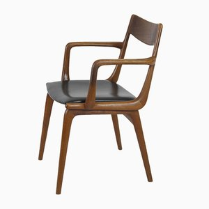 Sedia da scrivania Boomerang di Alfred Christensen per Slagelse Møbelværk, Danimarca, anni '60