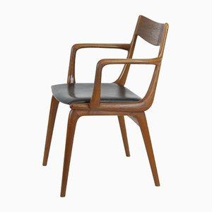 Chaise de Bureau par Alfred Christensen pour Slagelse Møbelværk, Danemark, 1960s