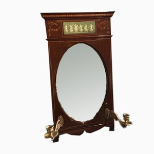 Edwardian Mahogany Wall Mirror with Candleholders from Shapland & Petter of Barnstaple, 1900s