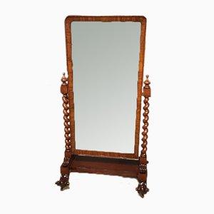 Victorian Mahogany Cheval Dressing Mirror, 1860s