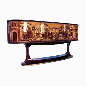 Italienisches Sideboard aus Palisander im Art Deco Stil von Vittorio Dassi, 1950er
