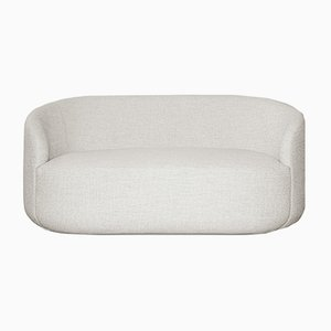 Curved White Fabric Cottonflower Sofa by Daniel Nikolovski e Danu Chirinciuc for KABINET