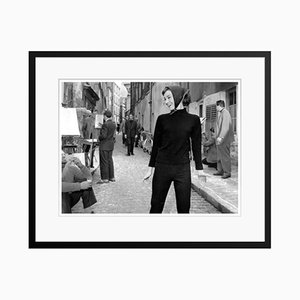 Hepburn in Paris Poster by Bert Hardy