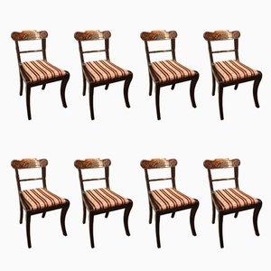 Regency Esszimmerstühle aus Mahagoni, 1820er, 8er Set