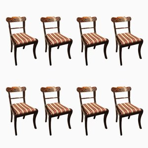 Regency Mahogany Dining Chairs, 1820s, Set of 8