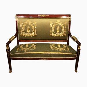 Französisches Empire Sofa aus Mahagoni, 1900er