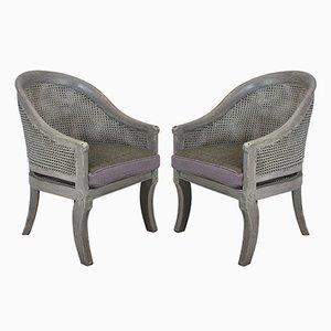 Chaises Vintage en Jonc, 1930s, Set de 2