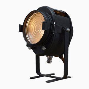 Industrial French Glass and Steel Projector from A.E. Cremer, 1950s