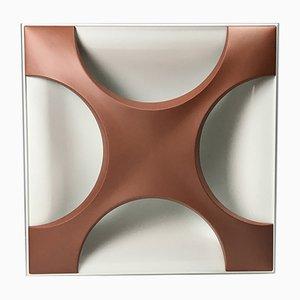 Aplique Oyster alemán minimalista de cobre de Rolf Krüger para Staff, 1968