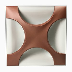 Minimalist German Copper Oyster Sconce by Rolf Krüger for Staff, 1968