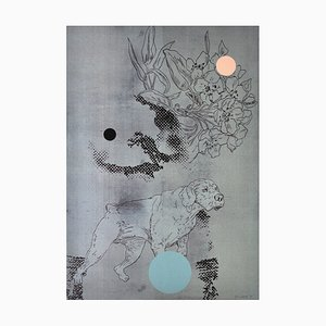 Danish Screen Print in Silver by Lars Grenaae, 1998