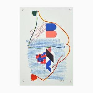 Dänische Lithographie von Marlene Landgreen, 2010er