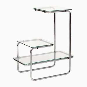 Art Deco Glass & Steel Shelf