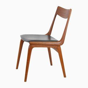 Dänischer Stuhl aus Leder und Teakholz von Christensen, Alfred für Slagelse Møbelværk, 1960er