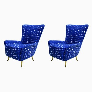 Mid-Century Italian Armchairs from ISA Bergamo, 1950s, Set of 2