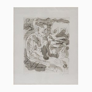 Portrait of Per Kirkeby Etching by A. R. Penck, 1984