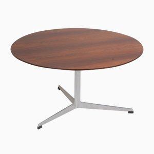 Tavolino da caffè in palissandro e acciaio di Arne Jacobsen per Fritz Hansen, Danimarca, anni '60