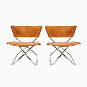 Vintage Danish Z-Down Lounge Chairs by Erik Magnussen for Torben Ørskov, 1960s, Set of 2