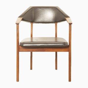 ProPos Armlehnstuhl aus Palisander & Skai von Hulmefa Nieuwe Pekela, 1950er