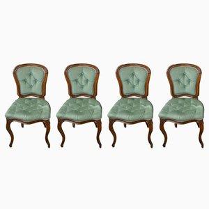 Antike Esszimmerstühle aus Buche, 4er Set