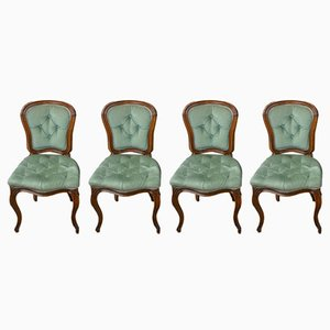 Antique Beech Dining Chairs, Set of 4