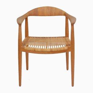 Armlehnstuhl aus Eiche von Hans J. Wegner für Johannes Hansen, 1950er